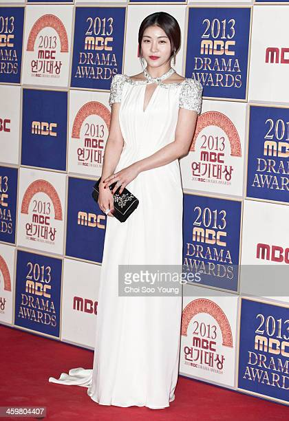 Ha JiWon arrives at the red carpet of the 2013 MBC drama awards at the MBC Open hall on December 30 2013 in Seoul South Korea