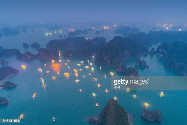 Ha long Bay at Night, Vietnam