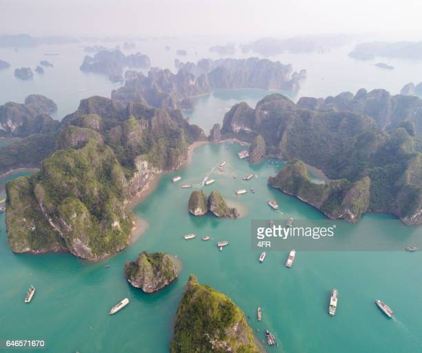 Ha long Bay, Vietnam - Aerial Photo