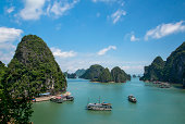 Ha Long Bay view and boats,Vietnam