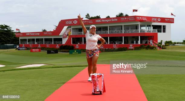 Ha Na Jang of Korea poses during a photo call prior to the HSBC Women's Champions on the Tanjong Course at Sentosa Golf Club on February 28 2017 in...