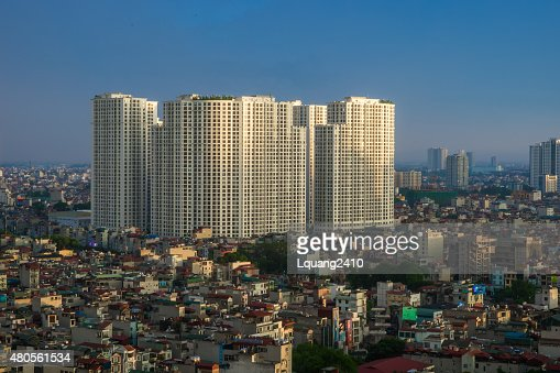 Ha Noi Cityscape with hight building : Stock Photo
