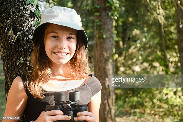 Haapy explorer child in the forest