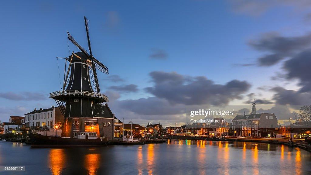 Haarlem night scene : Stock Photo