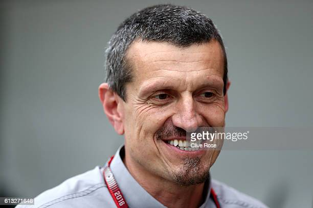 Haas F1 Team Principal Guenther Steiner in the Pitlane during qualifying for the Formula One Grand Prix of Japan at Suzuka Circuit on October 8 2016...