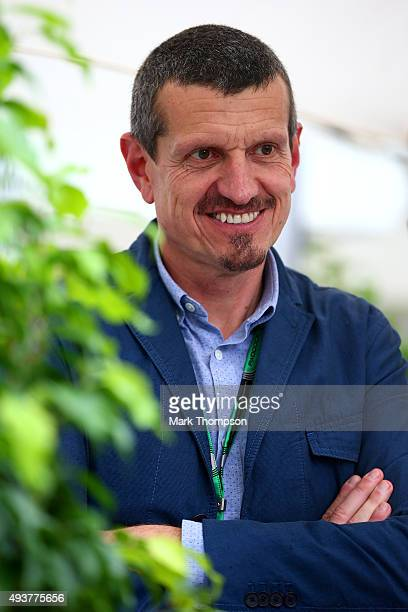 Haas F1 team principal Gunther Steiner looks on in the paddock during previews to the United States Formula One Grand Prix at Circuit of The Americas...