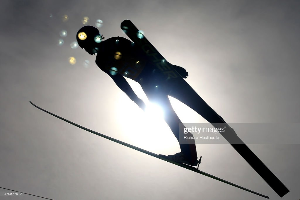 Haavard Klemetsen of Norway competes in the Nordic Combined Men's Team LH during day 13 of the Sochi 2014 Winter Olympics at RusSki Gorki Jumping Center on February 20, 2014 in Sochi, Russia.