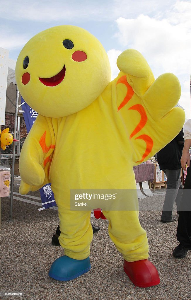 Habatan, the mascot of 2006 Hyogo National Sports Festival, is seen during the 'Yuru Chara Festival in Hikone' at Yumekyobashi Castle Road on October 23, 2010 in Hikone, Shiga, Japan. Yuru Chara, abbreviation of 'Yurui (unserious or relaxing)' and 'Character', are mascots of local governments, companies etc. The festival attracts 35,000 Yuru Chara fans.