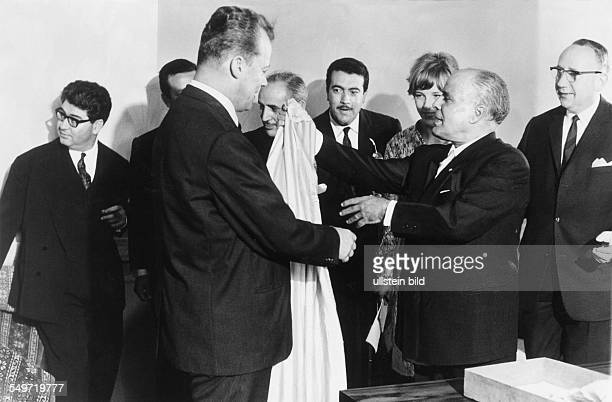 Habib Bourguiba the first President of the Republic of Tunisia with Willy Brandt in Berlin