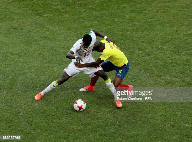 Habib Gueye of Senegal is challenged by Pervis Estupinan of Ecuador during the FIFA U20 World Cup Korea Republic 2017 group F match between Senegal...