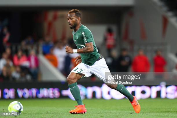 Habib Maiga of Saint Etienne during the Ligue 1 match between Toulouse and AS SaintEtienne at Stadium Municipal on October 29 2017 in Toulouse