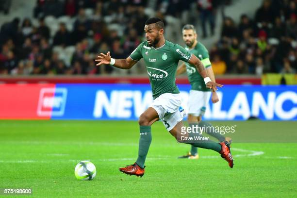 Habib Maiga of St Etienne during the Ligue 1 match between Lille OSC and AS SaintEtienne at Stade Pierre Mauroy on November 17 2017 in Lille France