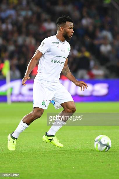 Habib Maiga of St Etienne during the Ligue 1 match between Paris Saint Germain and AS Saint Etienne at Parc des Princes on August 25 2017 in Paris