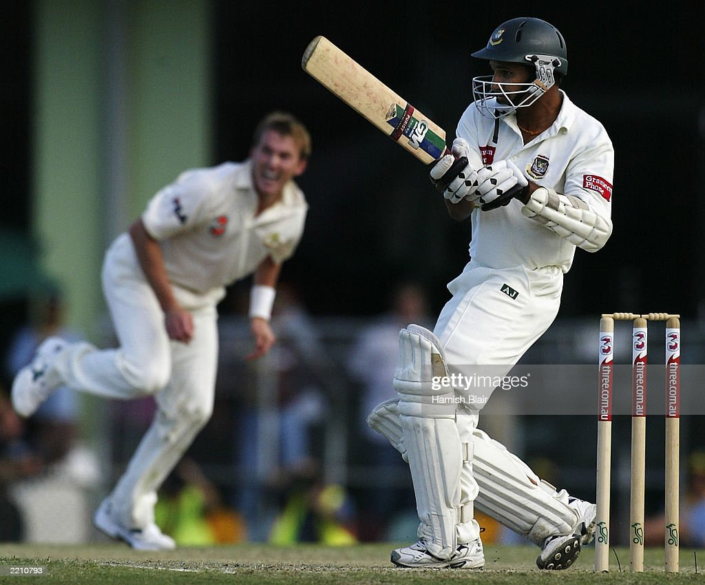 Habibul Bashar of Bangladesh in action : News Photo