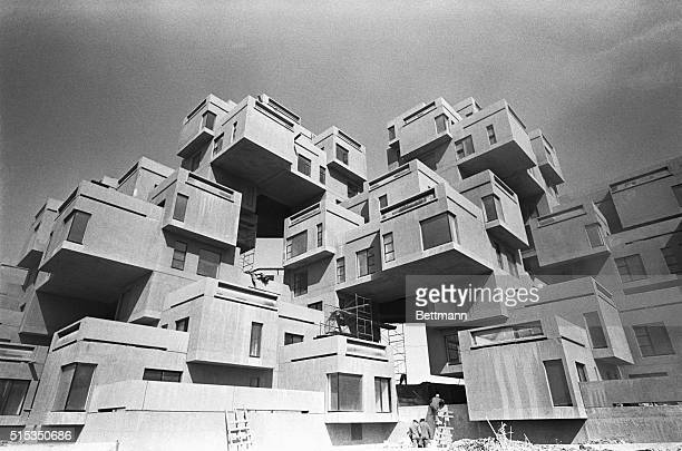Habitat 67 a prefabricated housing structure designed by Israel born Canadian architect Moshe Safdie for Expo 67 is made up of a basic structural...