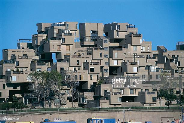 Habitat 67 Complex built on the occasion of Expo 67 architect Moshe Safdie Montreal Quebec Canada 20th century