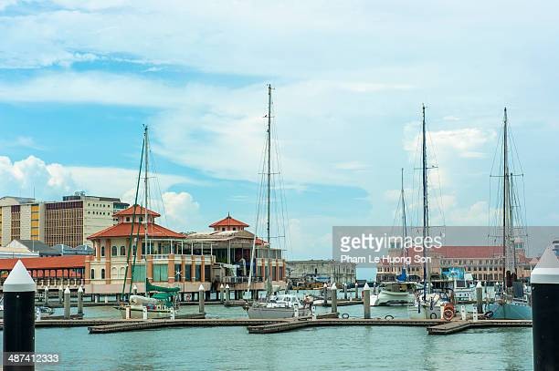 Habour with yachts and boats