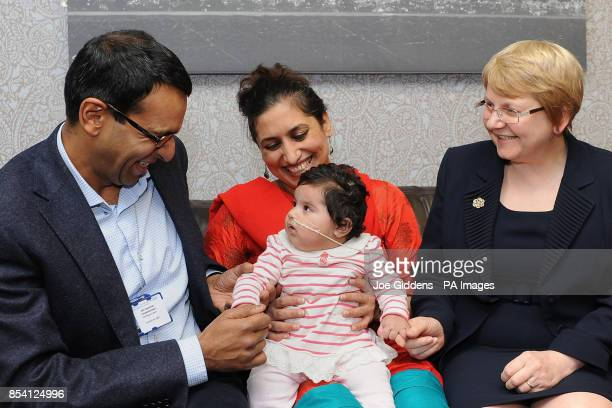 Habut Khatoon and her mum Fahmeeda with Dr Anupam Chakrapani consultant paediatrician in inherited metabolic disorders and Anita MacDonald head of...