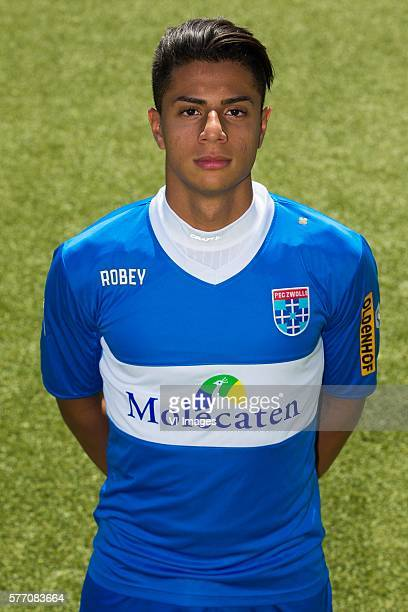 Hachim Mastour during the team presentation of Pec Zwolle on July 18 2016 at the IJsseldelta stadium in Zwolle The Netherlands