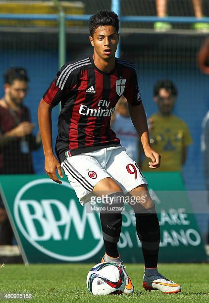 Hachim Mastour of AC Milan in action during the preseason friendly match between AC Milan and Legnano on July 14 2015 in Solbiate Arno Italy