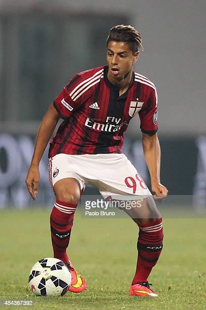 Hachim Mastour of AC Milan in action during the TIM Preseason Tournament between US Sassuolo FC Juventus and AC Milan at Mapei Stadium Citta' del...
