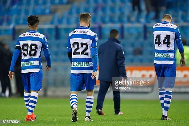 Hachim Mastour of PEC Zwolle Bart Schenkeveld of PEC Zwolle Mustafa Saymak of PEC Zwolle Nicolai BrockMadsen of PEC Zwolleduring the Dutch Eredivisie...