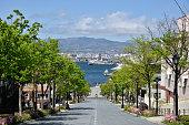 函館の八幡坂からの眺め