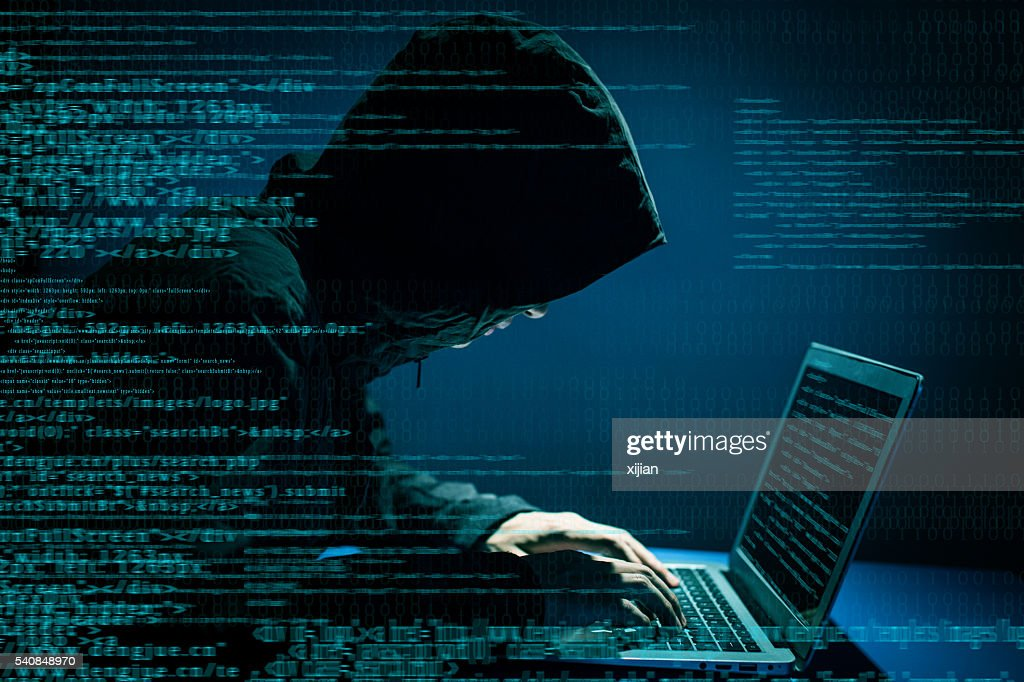 Hacker attacking internet : Stock Photo