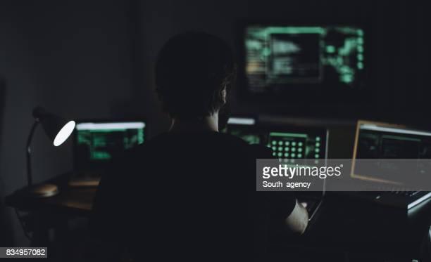 Hacker en actiom