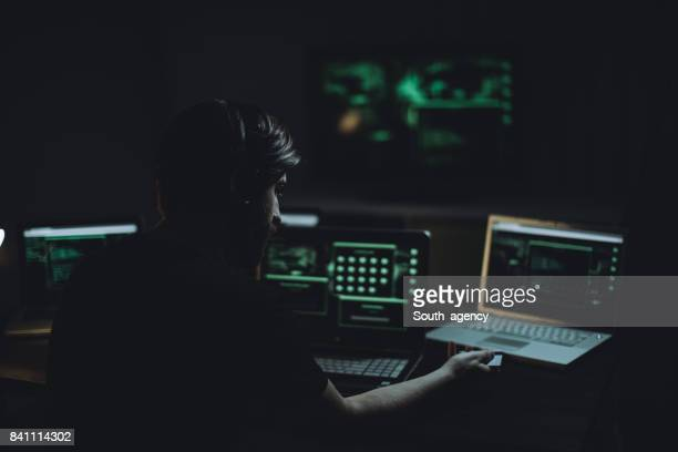 Hacker with credit card