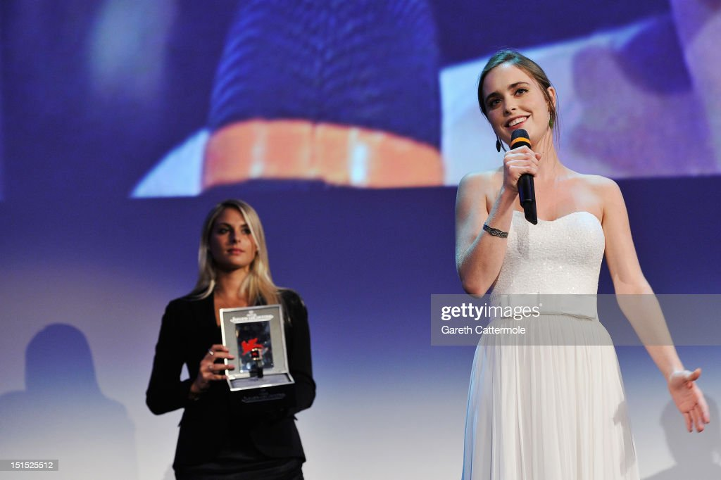 <a gi-track='captionPersonalityLinkClicked' href=/galleries/search?phrase=Hadas+Yaron&family=editorial&specificpeople=9689503 ng-click='$event.stopPropagation()'>Hadas Yaron</a> wins the Coppa Volpi award for best actress during the Award Ceremony at the 69th Venice Film Festival at the Palazzo del Cinema on September 8, 2012 in Venice, Italy.