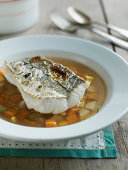 Haddock in broth