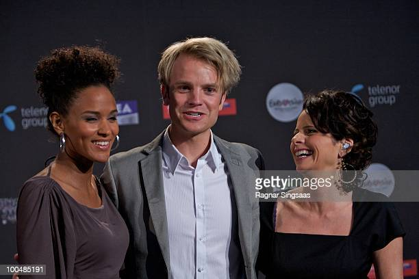 Haddy Jatou Njie Erik Solbakken and Nadia Hasnaoui are this years hosts for the Eurovision on May 24 2010 in Oslo Norway In all 39 countries will...