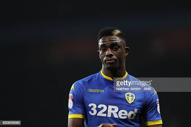 Hadi Sacko of Leeds United during the Sky Bet Championship match between Aston Villa and Leeds United at Villa Park on December 29 2016 in Birmingham...