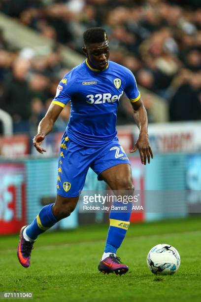 Hadi Sacko of Leeds United during the Sky Bet Championship match between Newcastle United and Leeds United at St James' Park on April 14 2017 in...