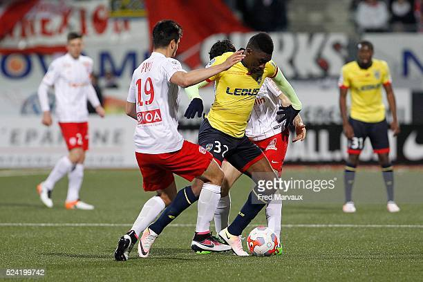 Hadi Sacko of Sochaux during the french ligue 2 match between As Nancy Lorraine and Fc Sochaux on April 25 2016 in Nancy France