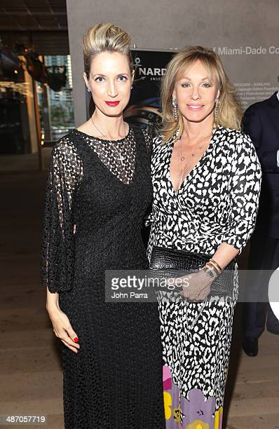 Hadley Henriette and Lea Black attend the Haute Living Miami Haute 100 Dinner Presented By Dom Perignon And Jade Signature at PAMM Art Museum on...