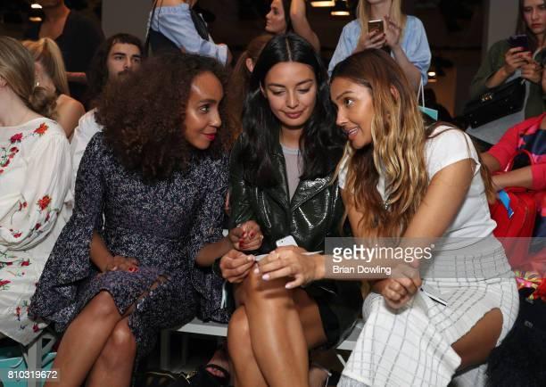 Hadnet Tesfai Alyssa Cordes and Wana Limar attend the Prabal Gulung Design show during the MercedesBenz Fashion Week Berlin Spring/Summer 2018 at...