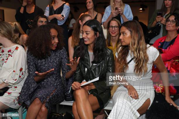 Hadnet Tesfai Alyssa Cordes and Wana Limar attend the Prabal Gulung Design show during the MercedesBenz Fashion Week Berlin Spring/Summer 2018 at...