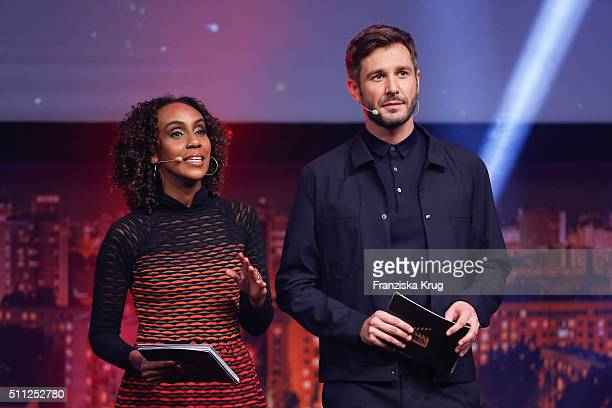 Hadnet Tesfai and Jochen Schropp attend the 99FireFilmAward 2016 at Admiralspalast on February 18 2016 in Berlin Germany