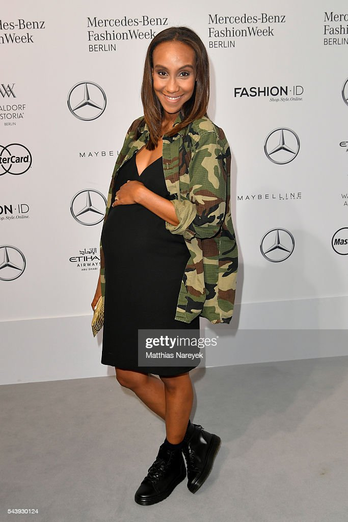 Hadnet Tesfai attends the 'Designer for Tomorrow' show during the Mercedes-Benz Fashion Week Berlin Spring/Summer 2017 at Erika Hess Eisstadion on June 30, 2016 in Berlin, Germany.