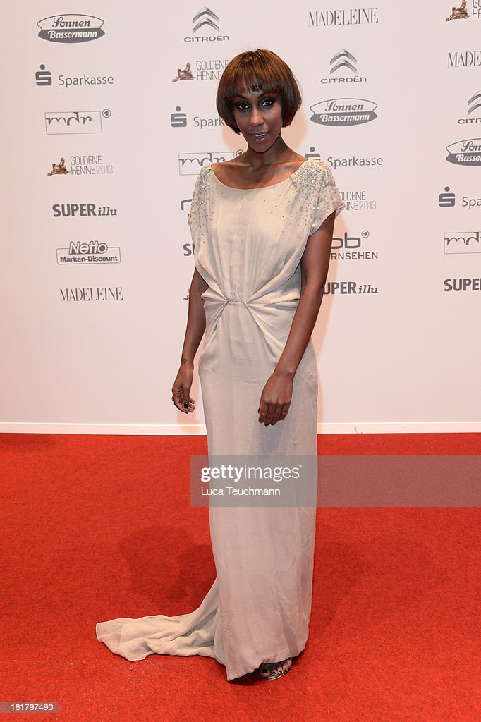 Hadnet Tesfai attends the Goldene Henne 2013 at Stage Theater on September 25, 2013 in Berlin, Germany.