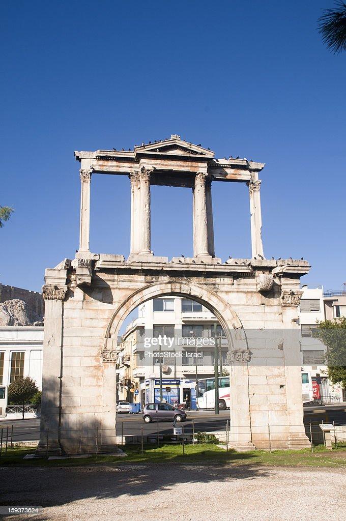 Hadrian's Arch, Athens : Stock Photo
