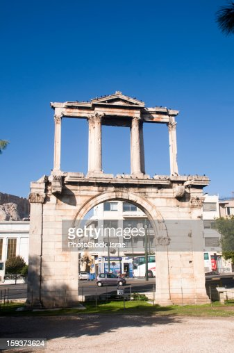 Hadrian's Arch, Athens : Stock Photo