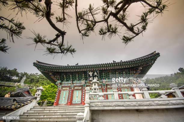 Haedong Yonggungsa Temple and Haeundae Sea Busan, South Korea