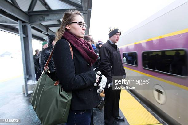 Haeley Stewart of Salem NH drove down to Anderson Regional Transportation center in Woburn to ride the commuter rail early Wednesday morning as train...