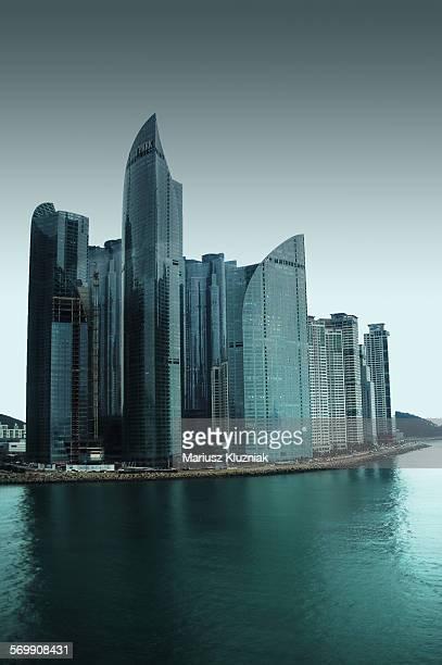 Haeundae Busan South Korea modern skyline