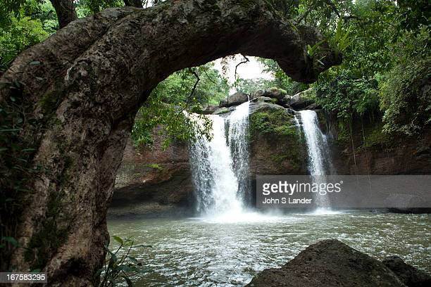 Haew Suwat Waterfall runs over a 20 meter cliff into a large pool below It is located about east of the visitors center and can be visited easily by...