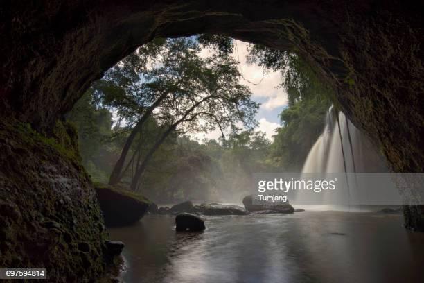 Haew Suwat Waterfall,Khao Yai National Park,Nakhon Ratchasima, Thailand.