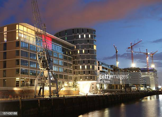 HafenCity Hamburg in der Nacht